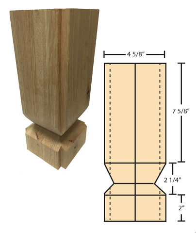 EZ Mount For C 4091 Newels | Stair Parts