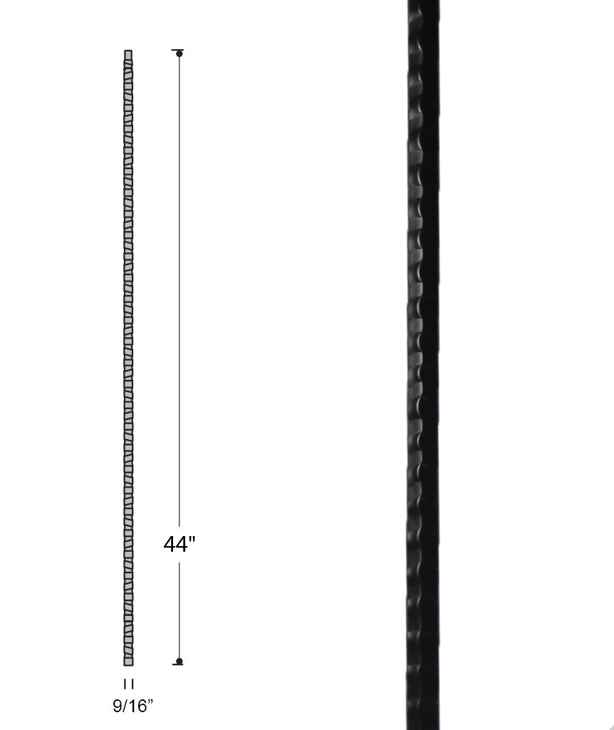 Gothic Plain Hammered Bar Iron Baluster : 2575 | Stair Parts ...