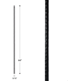 Gothic Plain Hammered Bar Iron Baluster : 2575