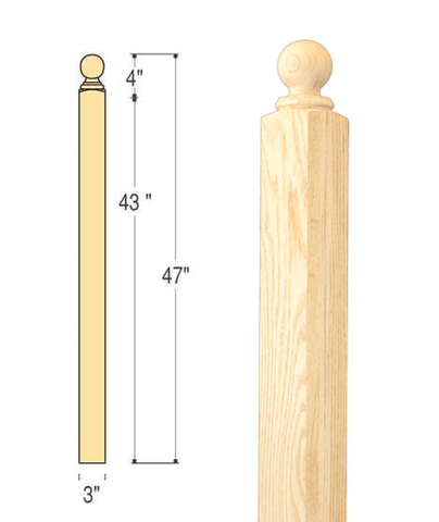Hampton Ball Top Starting Newel : C-4070 | Stair parts