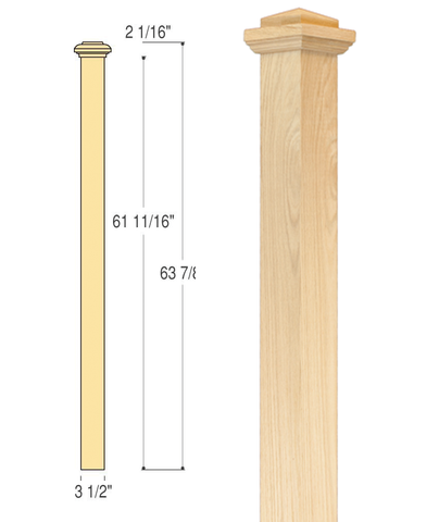 Landing Box Newel : C-4077 | Stair parts