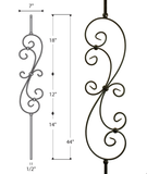 Large Scroll Iron Baluster : 2580