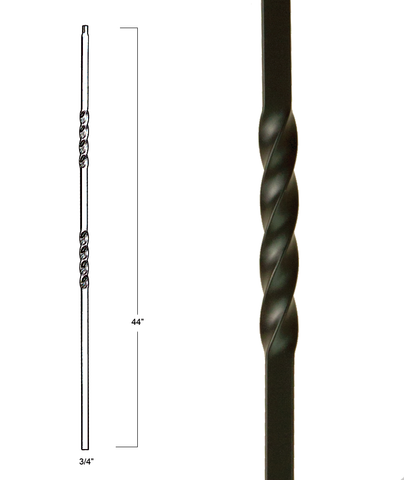 Mega Double Twist Iron Baluster : 2851 | Stair parts