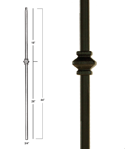 Mega Single Knuckle Iron Baluster : 2856 | Stair parts
