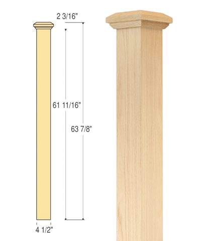 Mission Box Newel (Medium) : C-4690 | Stair parts