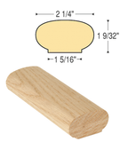 Oval Straight Wall Rail : C-6042 | Stair parts