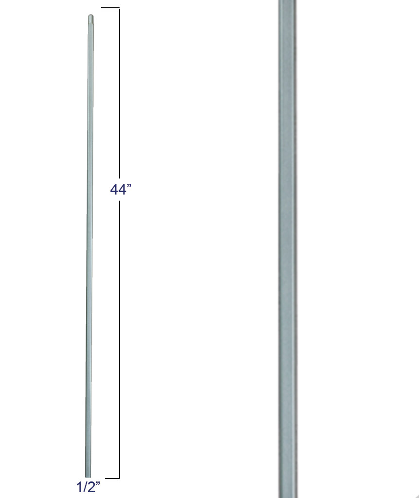 "Liberty Series Plain 1/2"" Sq Iron Baluster: 2555"