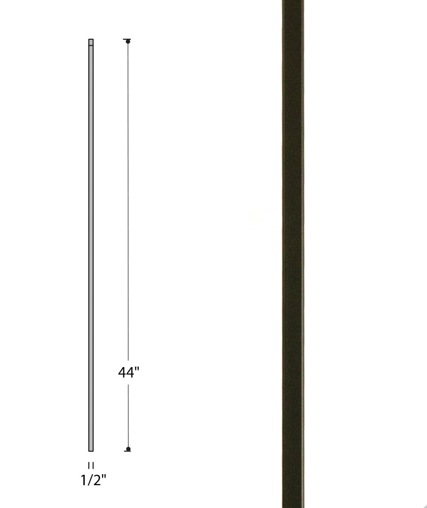Plain Square Bar Iron Baluster : 2555
