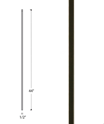 Plain Square Bar Iron Baluster : 2555 | Stair parts