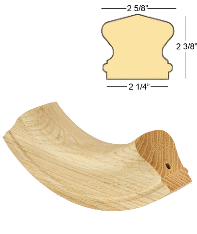 Richmond 90 Degree Up Easing : C-7414S | Stair parts