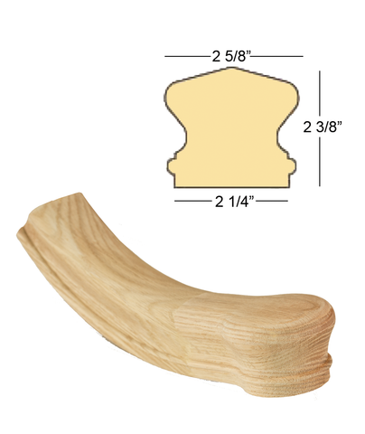 Richmond Starting Easing with Newel Cap : C-7410 | Stair parts