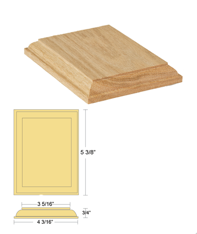 Rosette - Rectangle    C-7318 | Stair parts