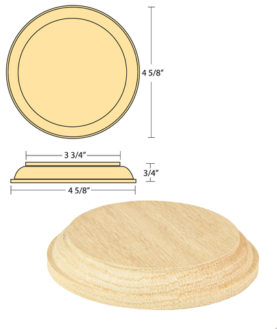 Rosette - Small Round    C-7317 | Stair parts