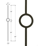 Single Ring Medallion Iron Baluster : 2930
