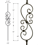 Small Scroll Iron Baluster : 2585