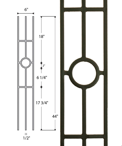 Three Leg Medallion : 2933 | Stair parts