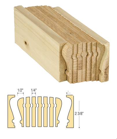 Traditional Bending Rail: C-6016 | Stair parts
