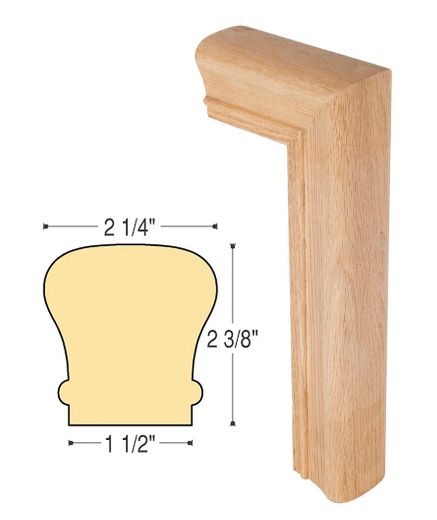Traditional Gooseneck 2 Riser No Cap : C-7099 | Stair parts