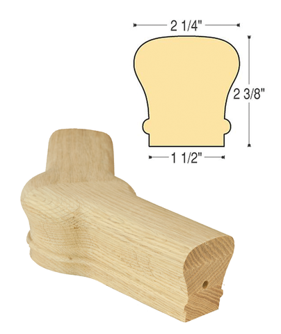 Traditional Level Newel Cap 45 Degree : C-7022 | Stair parts
