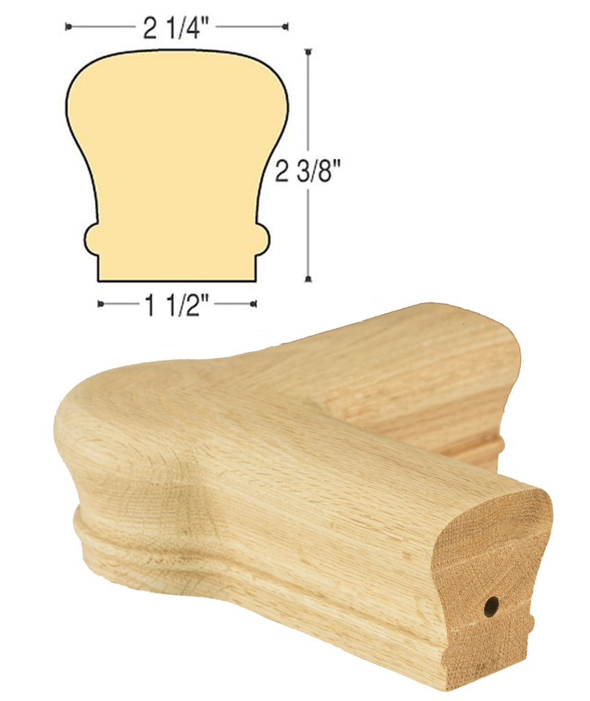Traditional Quarterturn Newel Cap :  C-7021 | Stair parts