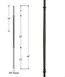 Venetian Fluted Iron Baluster : 2596