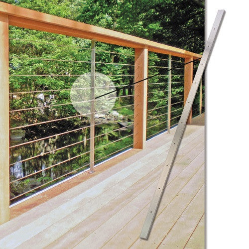 steel cable railing. Cable Rail - Stainless Steel Brace Pre Drilled | Stair Parts Railing .