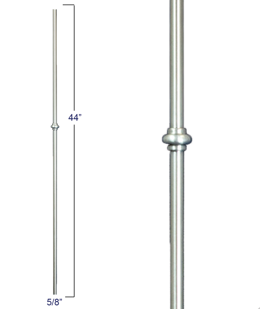 "Modern Venetian 5/8"" Single Smooshed Ball  Iron Baluster: R54544"