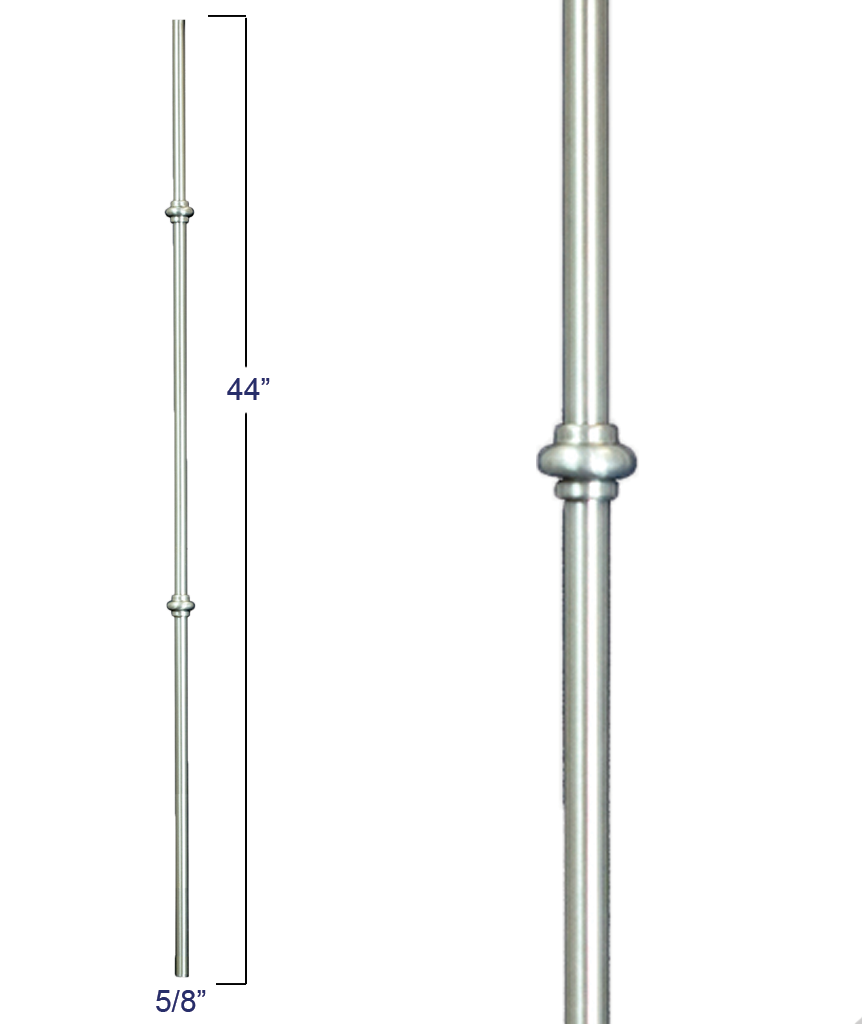 "Modern Venetian 5/8"" Double Smooshed Ball Iron Baluster : R54844"