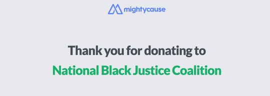 National Black Justice Coalition On MightCause