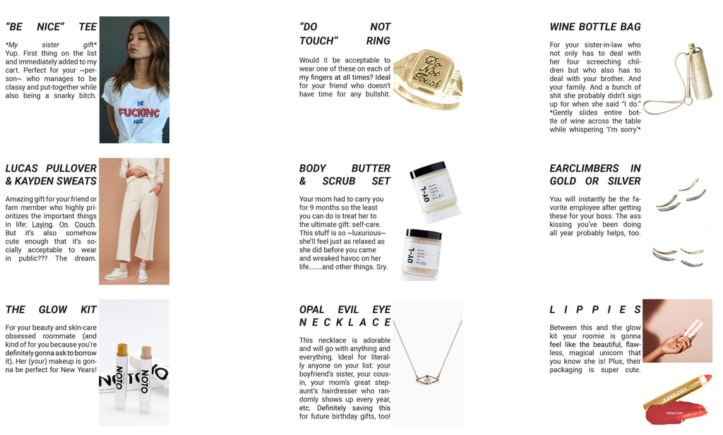 Gift Guide Funny Style Blogger for Better Fashion and Beauty