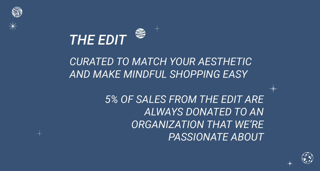 Conscious Shopping Made Easy Donate to Charity When You Shop The Edit