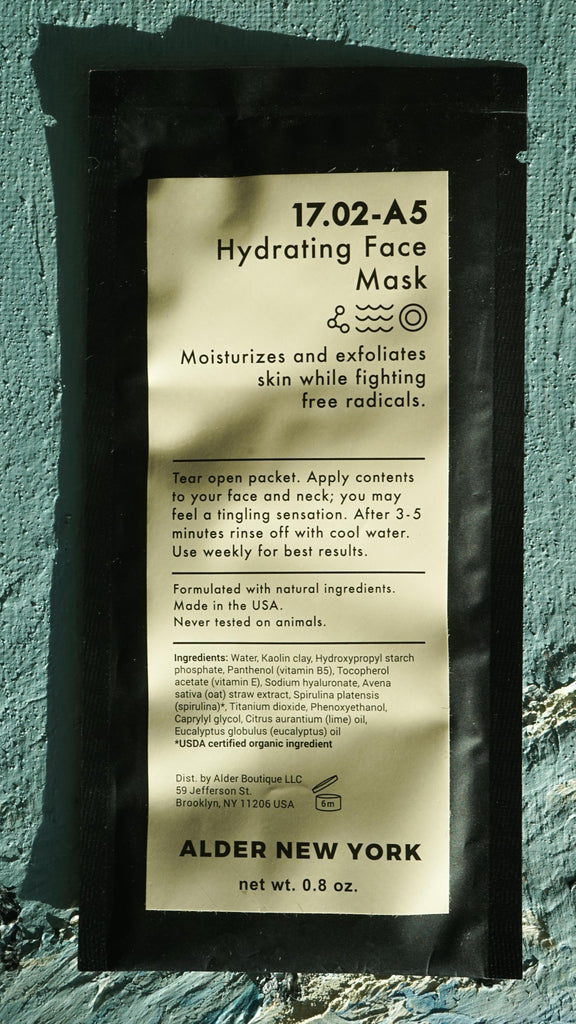 Hydrating Face Mask Alder New York Clean Skincare
