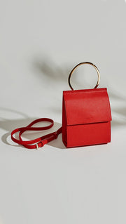 Red Ella Ring Handle Crossbody Angela Roi