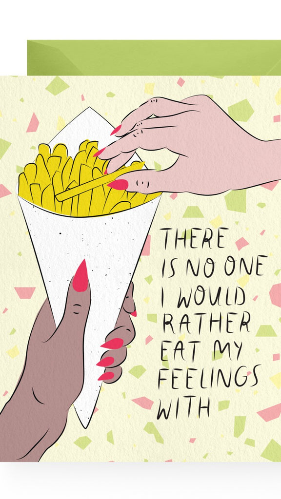 Emotional Eating Card by Boss Dotty Paper Co