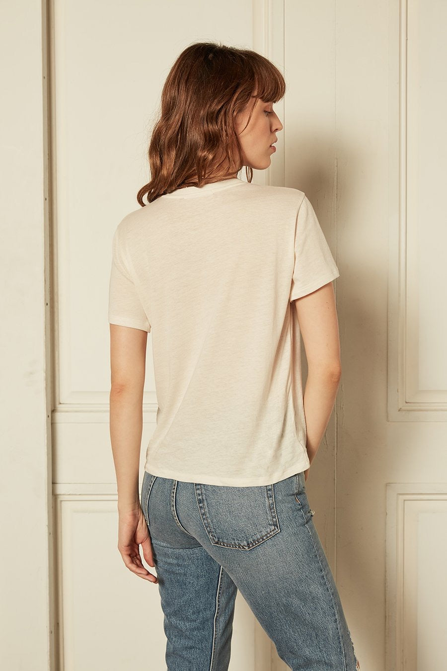 Off White Lennon Tee by Boyish Jeans