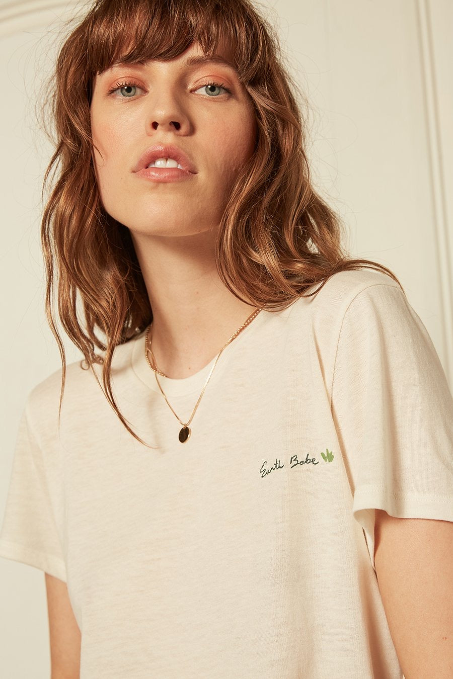 Boyish Jeans The Lennon Earth Babe Tee in Off White