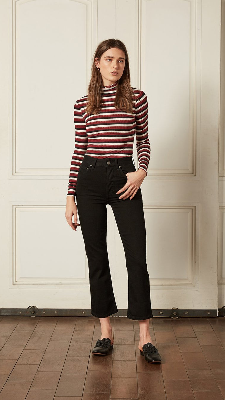 Boyish Jeans The Brady Crop Flare in La Strada