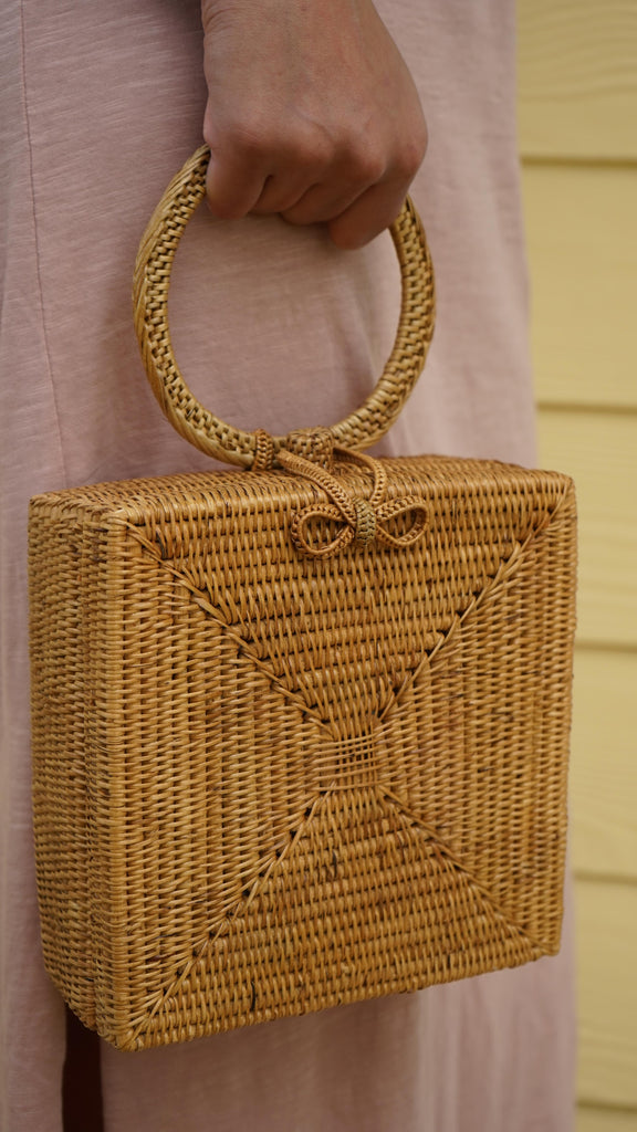 Atta Malika Straw Bag by Brunna Co