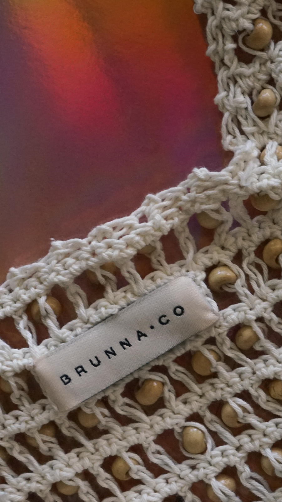 Crochet Bag With Wooden Beads By Brunna Co