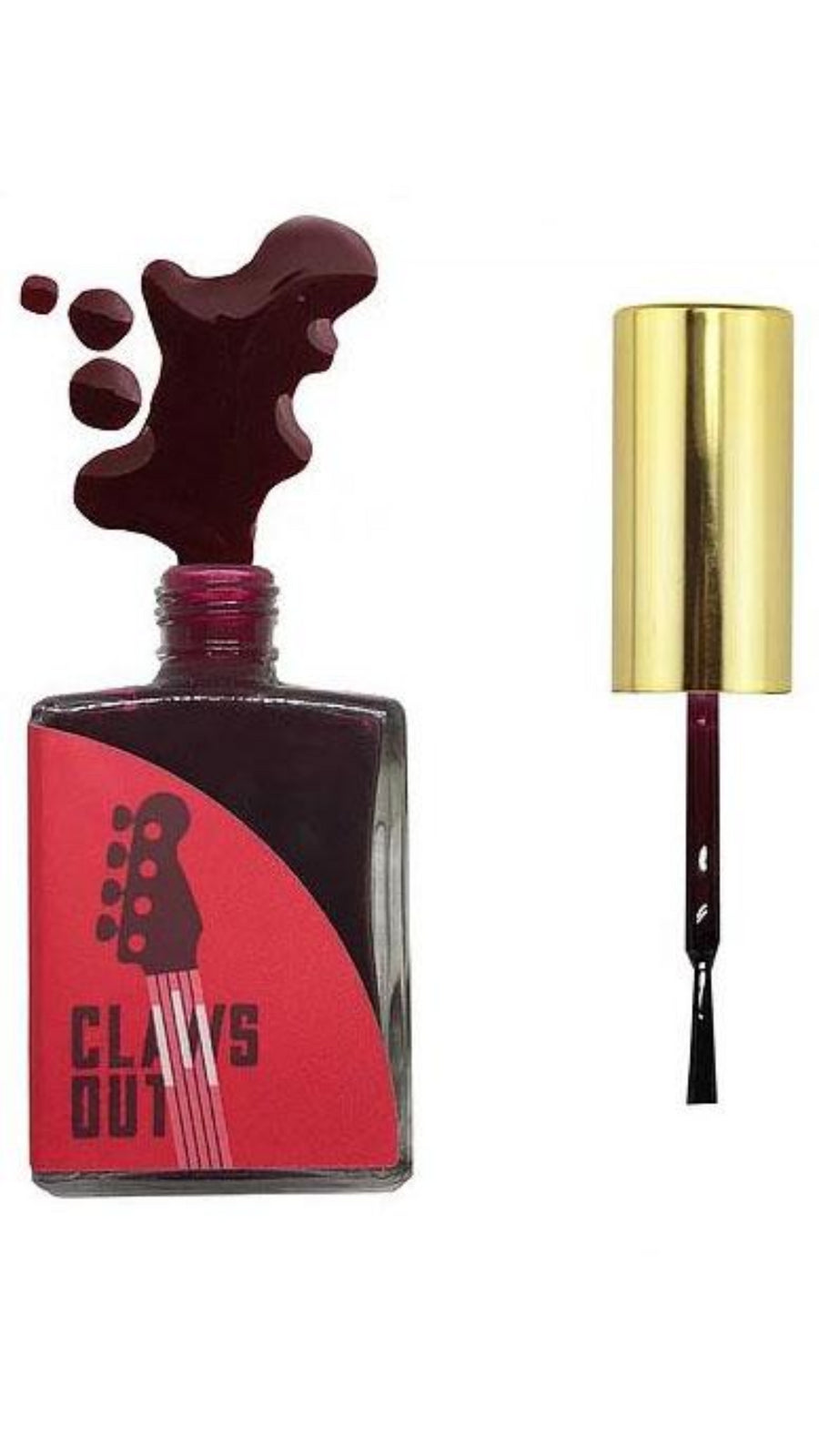 Claws Out Resistance Deep Red Nail Polish