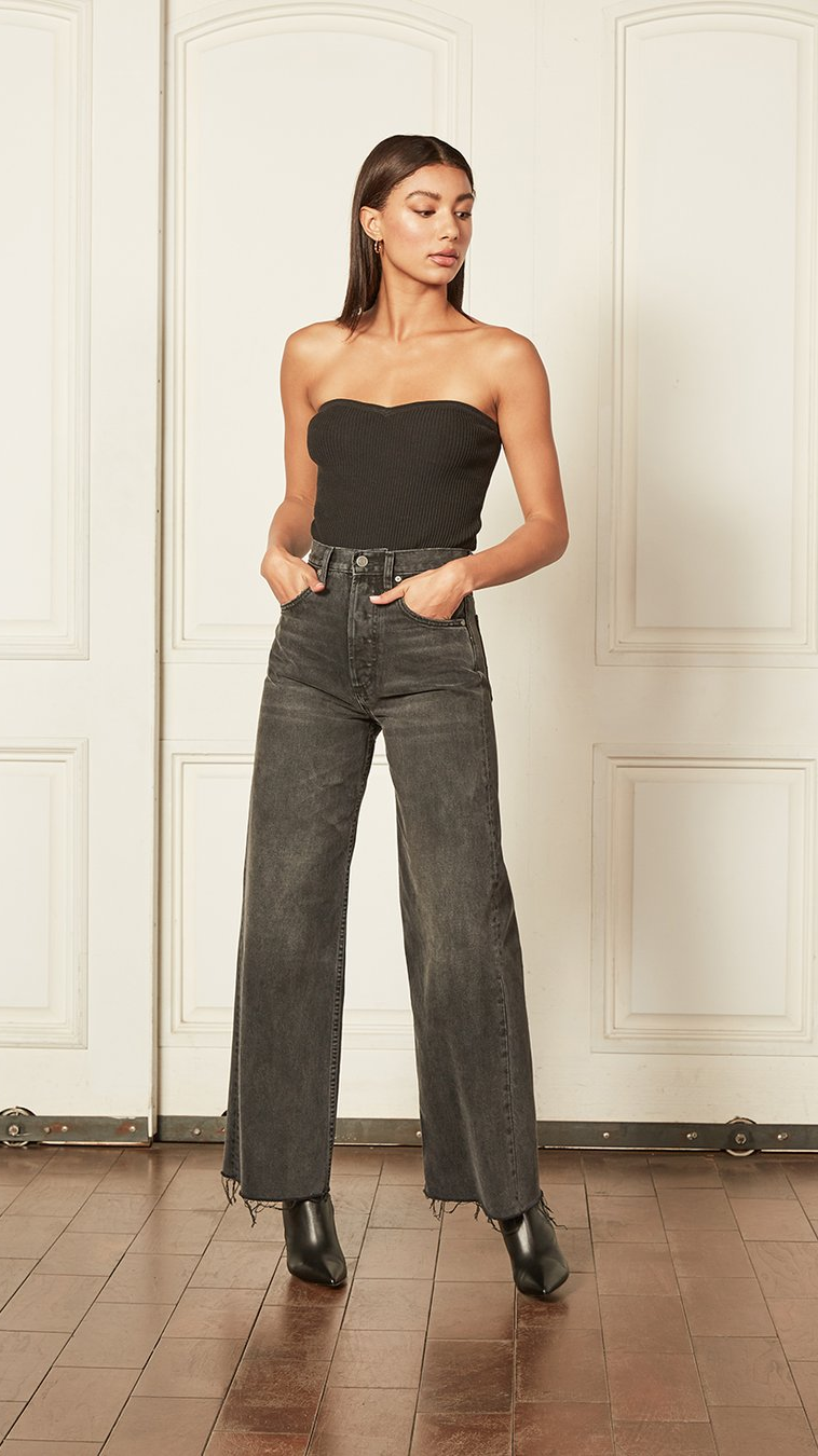 The Charley Wide Leg in Midnight Cowboy by Boyish Jeans