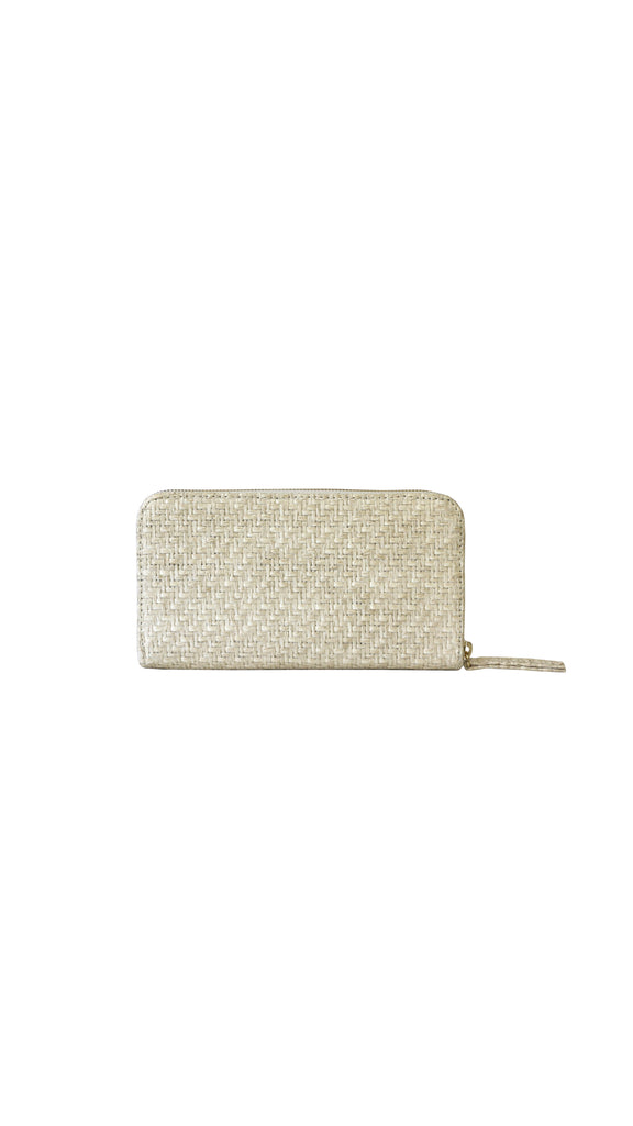 Convertible Raffia Wallet by HFS Collective