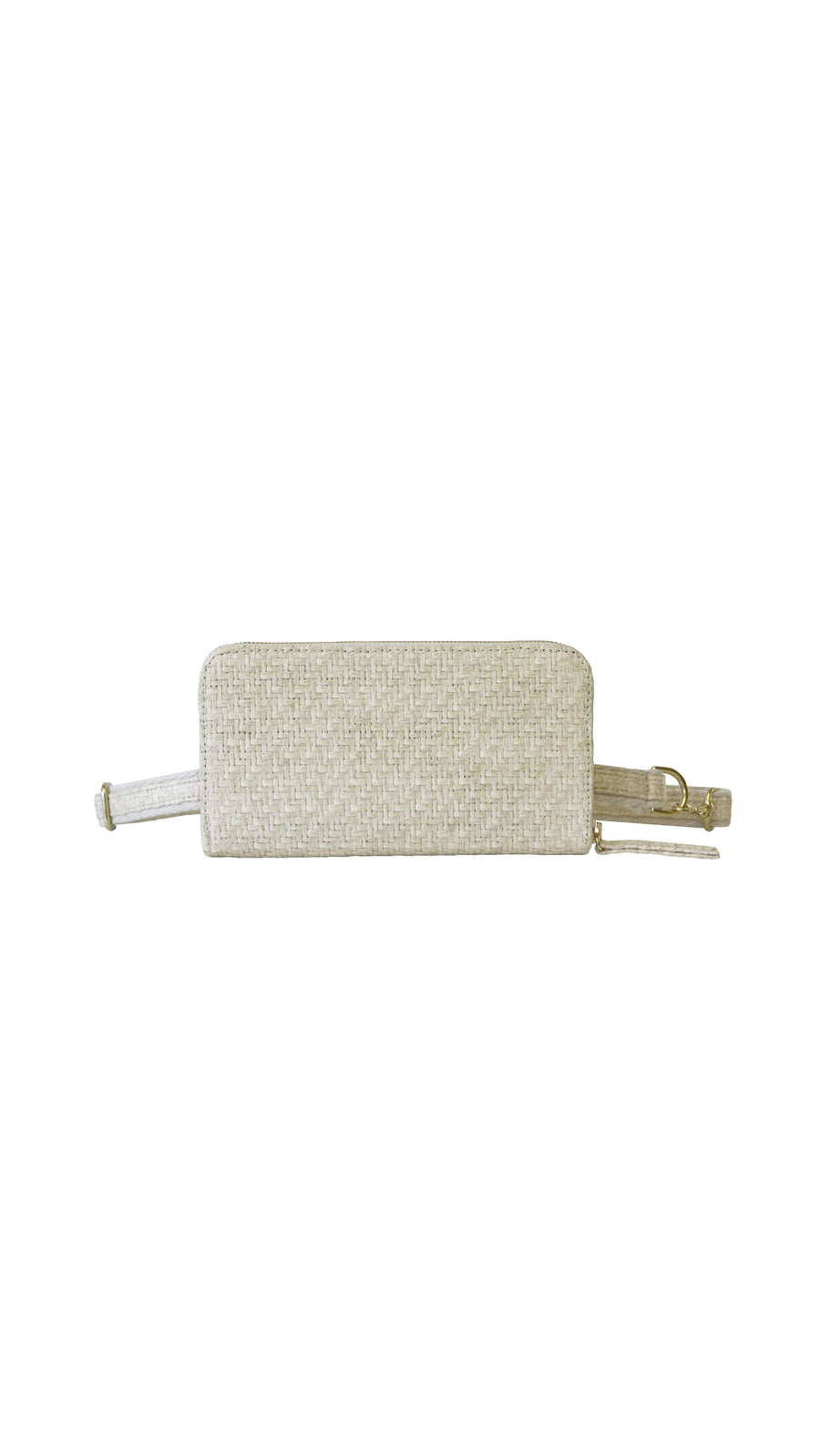 HFS Collective White Sand Raffia Convertible Wallet