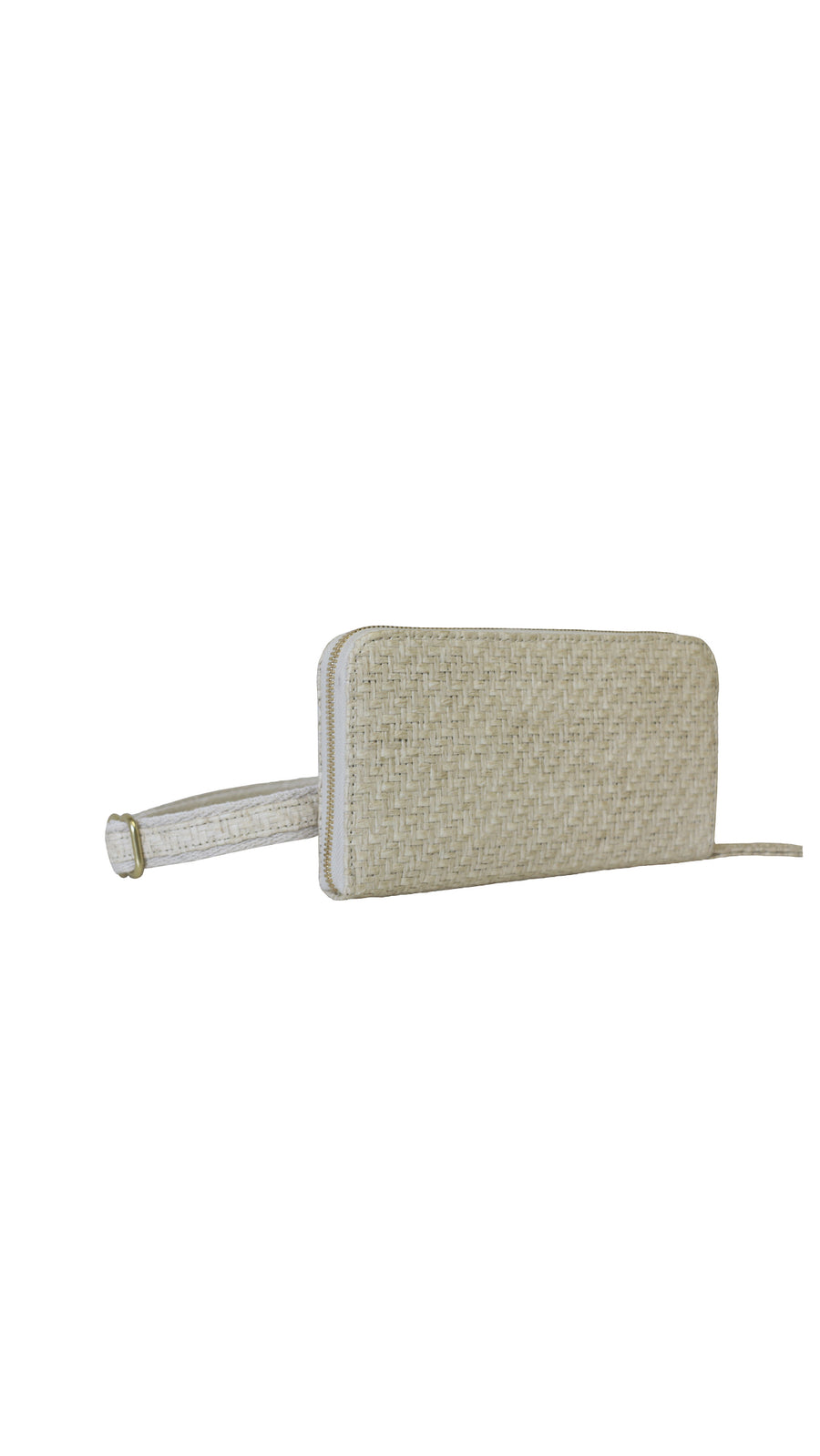 Raffia White Sand Convertible Wallet by HFS Collective