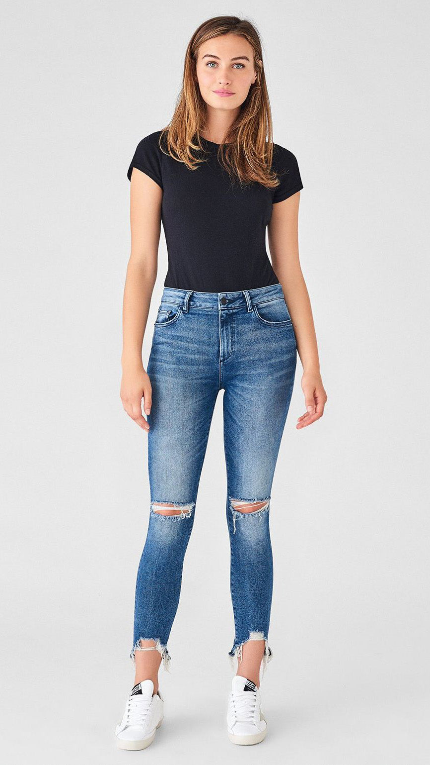 DL1961 Farrow High Rise Ankle Skinny in Laramie