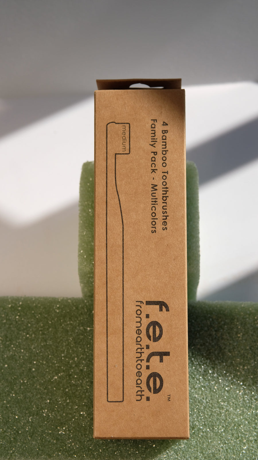 F.E.T.E. Family Pack of Medium Bamboo Toothbrushes