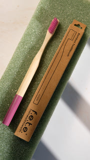 F.E.T.E. Medium Bamboo Toothbrush in Purple