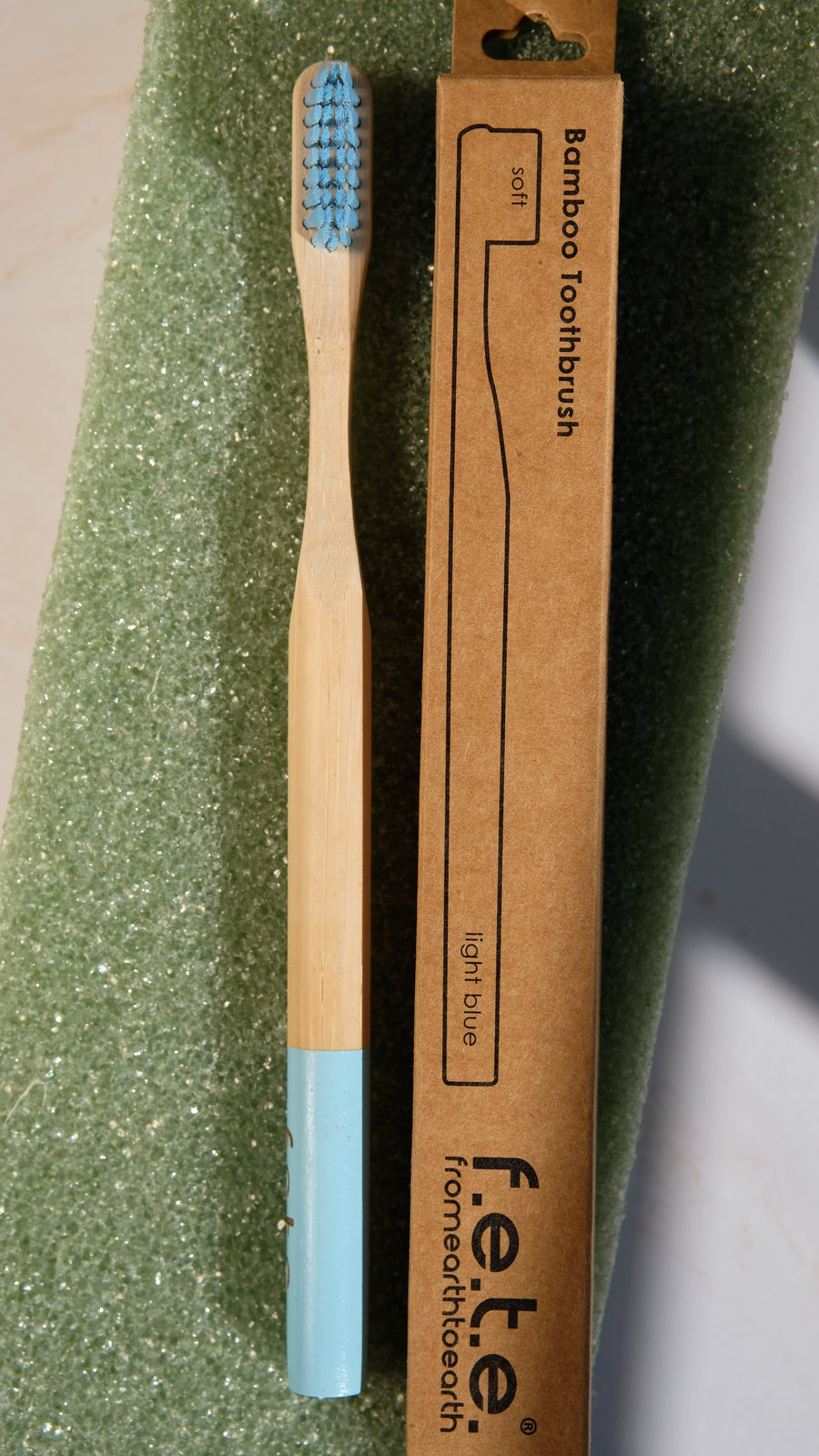 F.E.T.E. Soft Bamboo Toothbrush in Light Blue