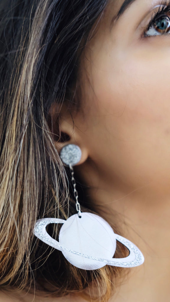 Saturn Earrings by Off Duty NYC
