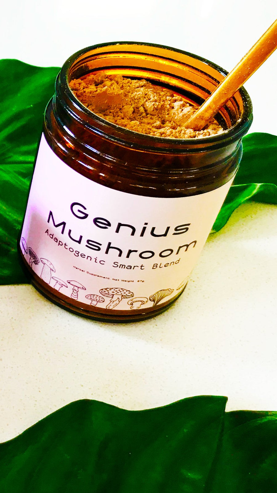 Genius Mushroom Adaptogenic Smart Blend by Pretty Mushroom Wellness